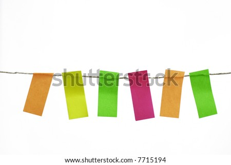 Easy Isolate Blank Memos Postit Hanging Stock Photo