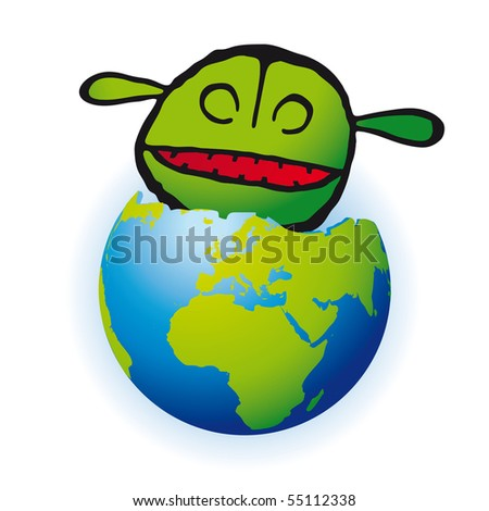 eat the planet - stock photo