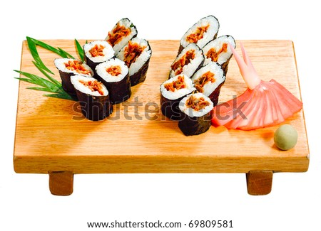Japanese rice roll stock photos illustrations and vector art