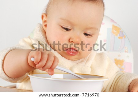 eating baby - stock photo