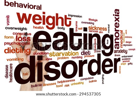 Eating disorder word cloud concept - stock photo