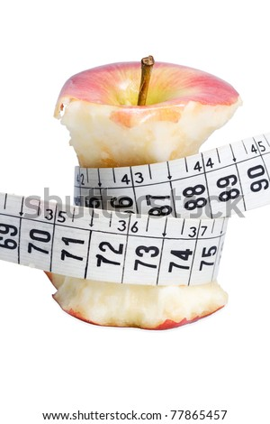 Eating fruit help you lose weight - stock photo