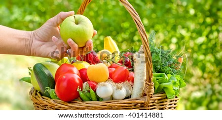 Eating healthy food - healthy diet (eating)