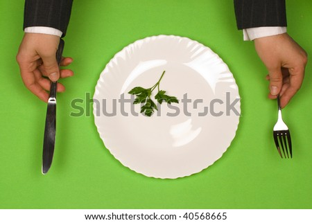 Eating vegetable - stock photo