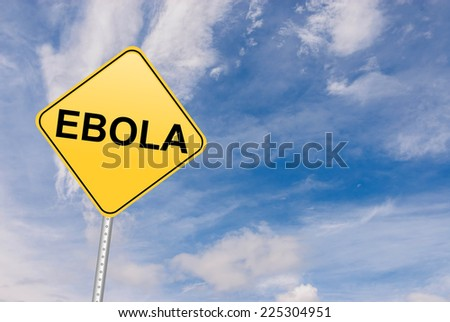 Ebola conceptual road sign