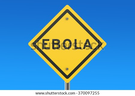 Ebola virus sign isolated on blue sky