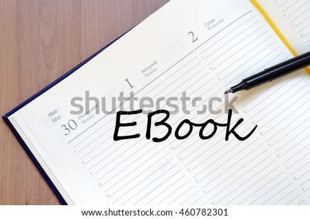 Ebook text concept write on notebook