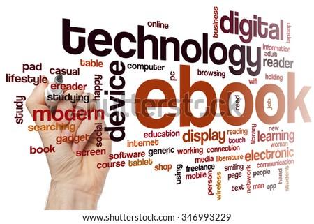Ebook word cloud - stock photo
