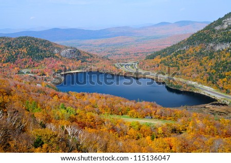 Echo Lake, New Hampshire, USA