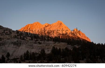 Echo Peaks at Sunset - stock photo