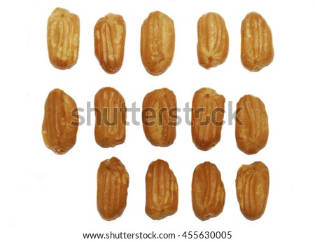 Eclairs on white background