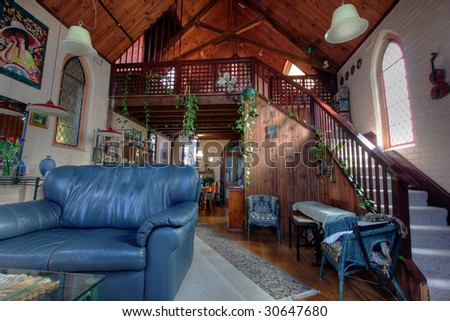 the living room church eclectic living room church converted into stock photo 12113