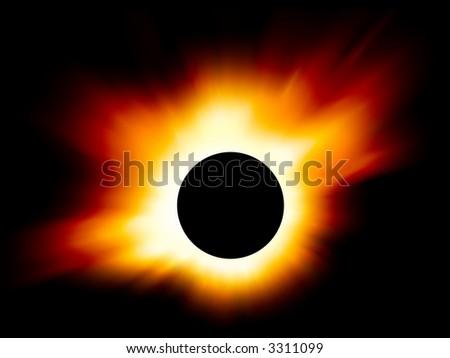 Eclipse - stock photo