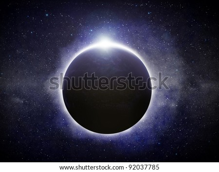 Eclipse illustration - stock photo