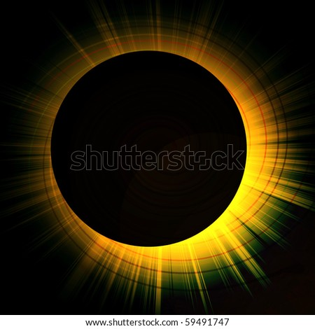 eclipse of the sun - stock photo