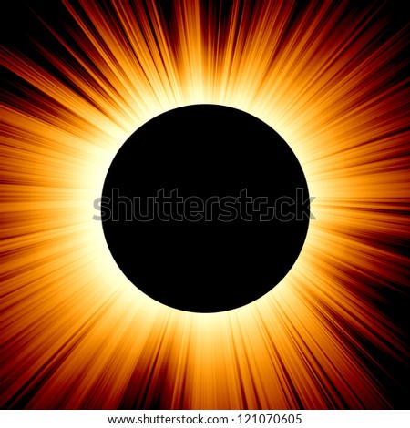 eclipse on a dark red background - stock photo