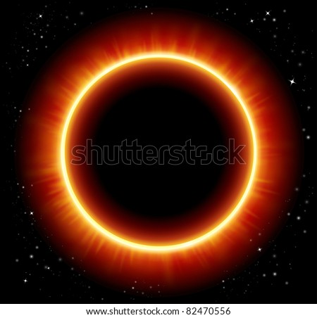 Eclipse space background - JPG version