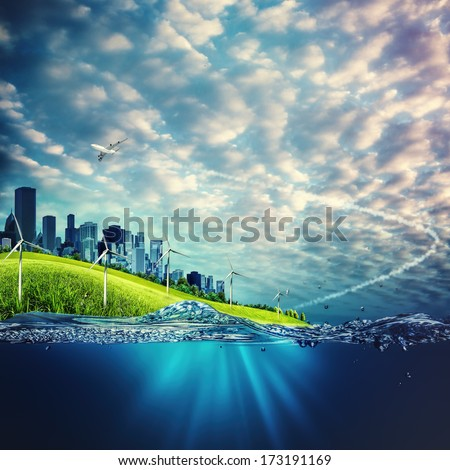 Eco and environmental concept backgrounds for your design - stock photo