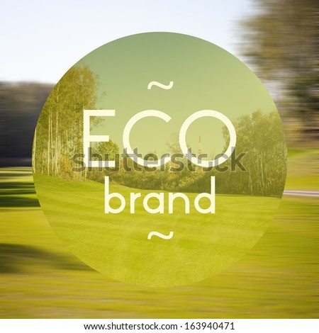 Eco brand poster, illustration of eco-friendly business - stock photo