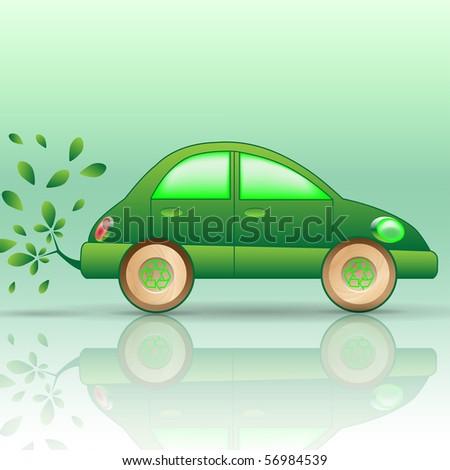 Eco-car - stock photo