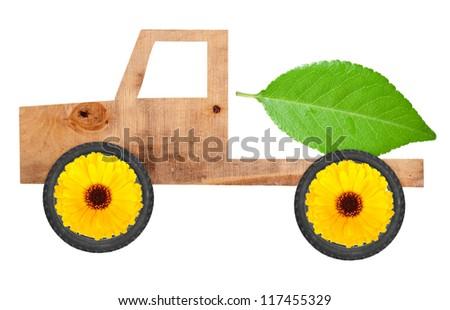 Eco car concept - stock photo