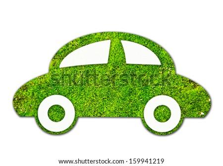 Eco Car, Green car for eco concept - stock photo