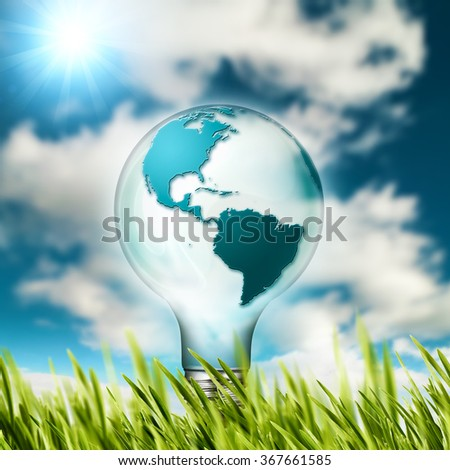 Eco concept. Renewable energy and sustainable development design - stock photo