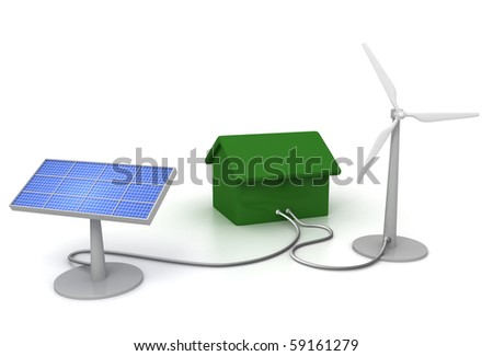 eco enegry house - stock photo