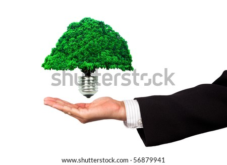 eco energy business - stock photo