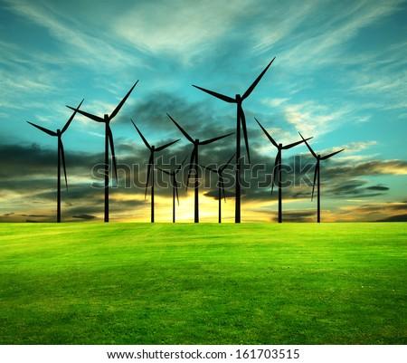Eco-Energy, conceptual image  - stock photo