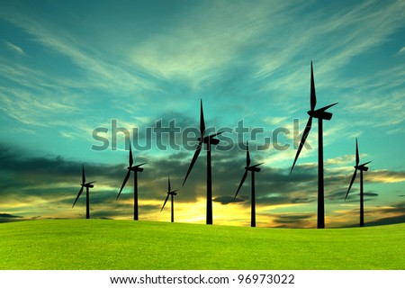 Eco-Energy, conceptual image - stock photo
