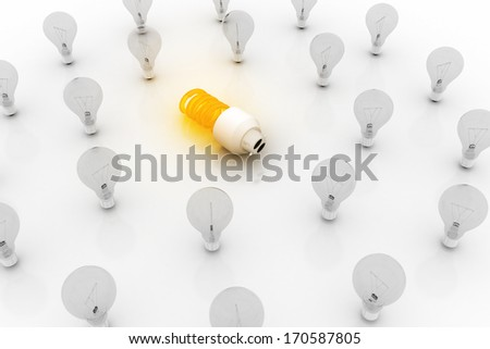 Eco energy saving light bulb concept - stock photo