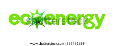Eco Energy with Green Earth - stock photo