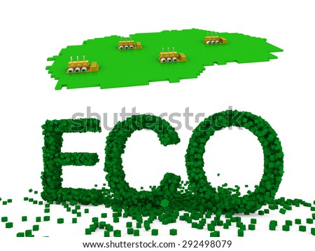 eco factory  - stock photo