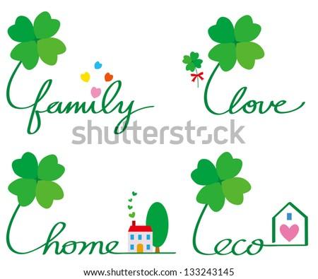 eco family love home - stock photo