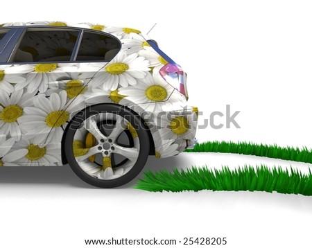 Eco-friendly car concept - stock photo