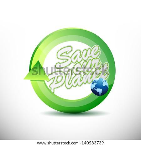 eco friendly 360 design concept illustration design over white - stock photo