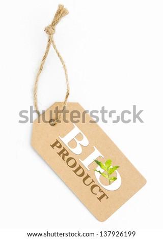 Eco friendly label, bio product - stock photo
