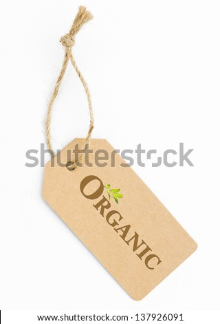 Eco friendly label, Organic - stock photo