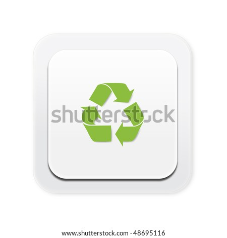 Eco friendly light switch recycle - stock photo