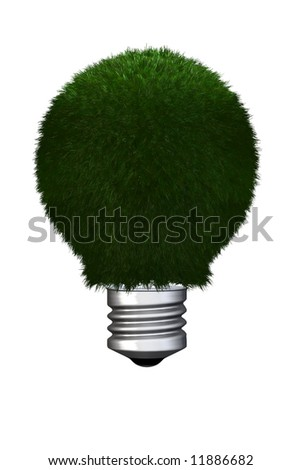 eco-friendly lightbulb - stock photo