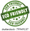 Eco friendly stamp - stock photo