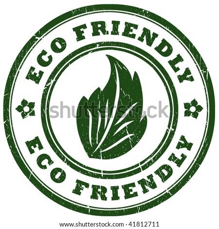 Eco friendly stamp - stock photo