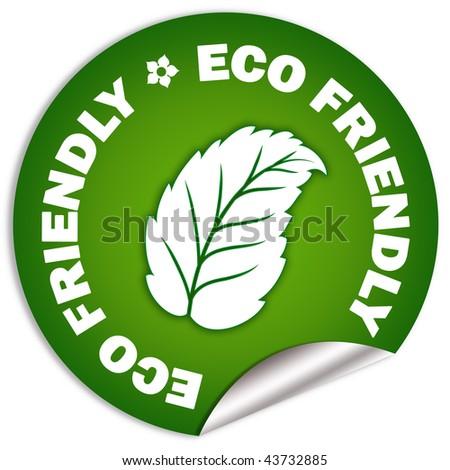 Eco friendly sticker - stock photo