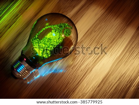 Eco friendly transportation. 3D computer generated image. - stock photo