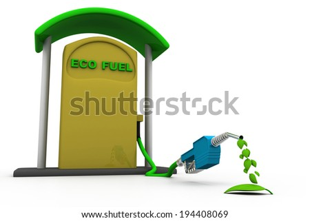 Eco fuel concept , Ecology concept	 - stock photo