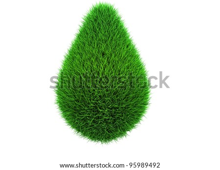 eco fuel drop - stock photo