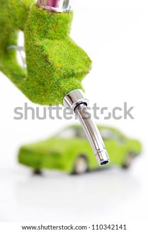 eco fuel nozzle,energy concept - stock photo