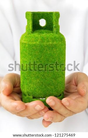 eco gas tank concept. - stock photo