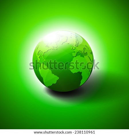 Eco Green Earth World Background - Save the World - Raster Version - stock photo